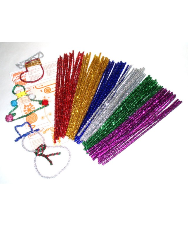 Festive Glitter Pipecleaners 300 x 6mm