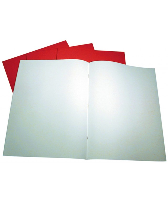 "Creative Books 13 X 10"" 40 Page Plain Vivid Red"