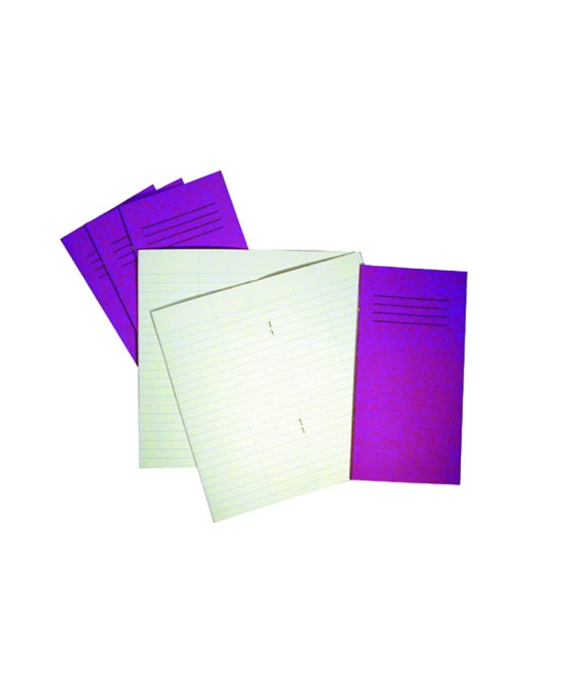 Exercise Books 8 X 4 32 Page 8mm/Centre Line Vivid Purple
