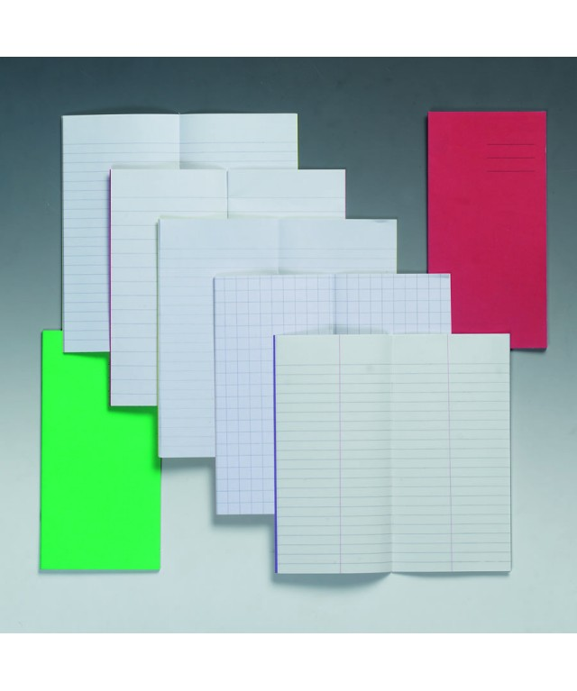 Exercise Books 5.25 X 6.5 24 Page 10mm Squares Green