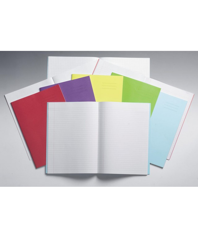 Exercise Books A4 64 Page 8mm/Blank Alternate Red