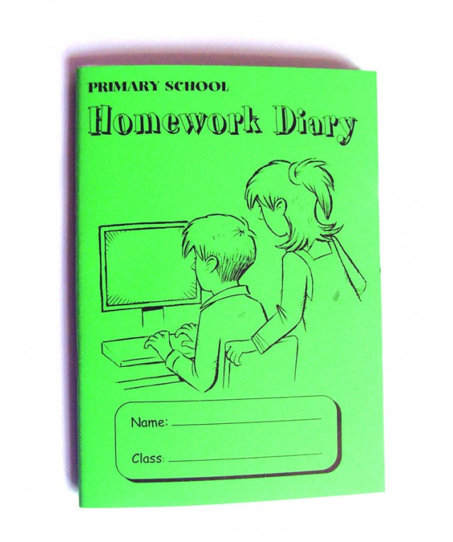 Primary School Homework Diary Green