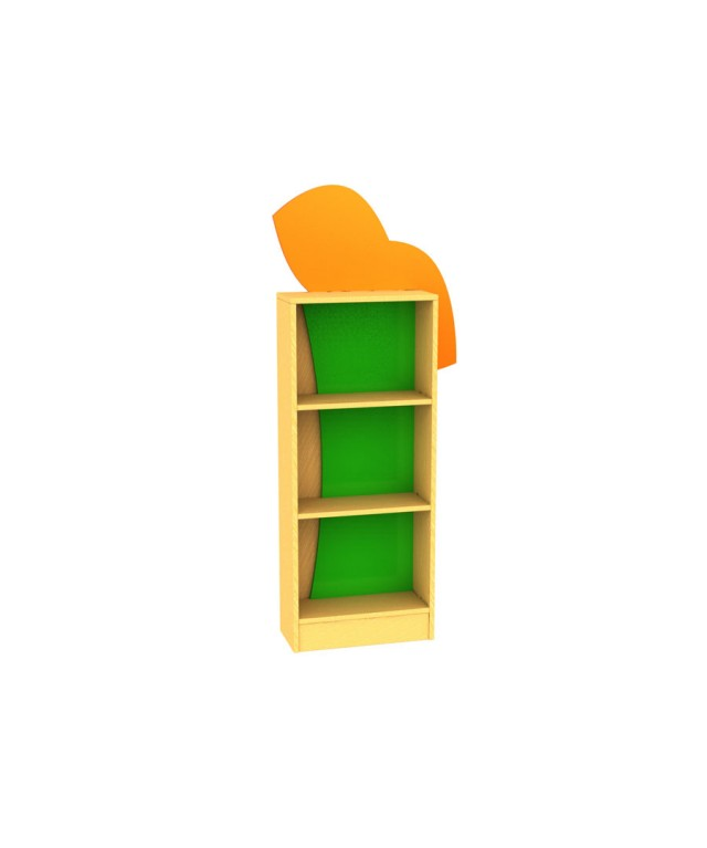 Tree Frog Bookcase with feature panels W500 x D305 x H1200mm
