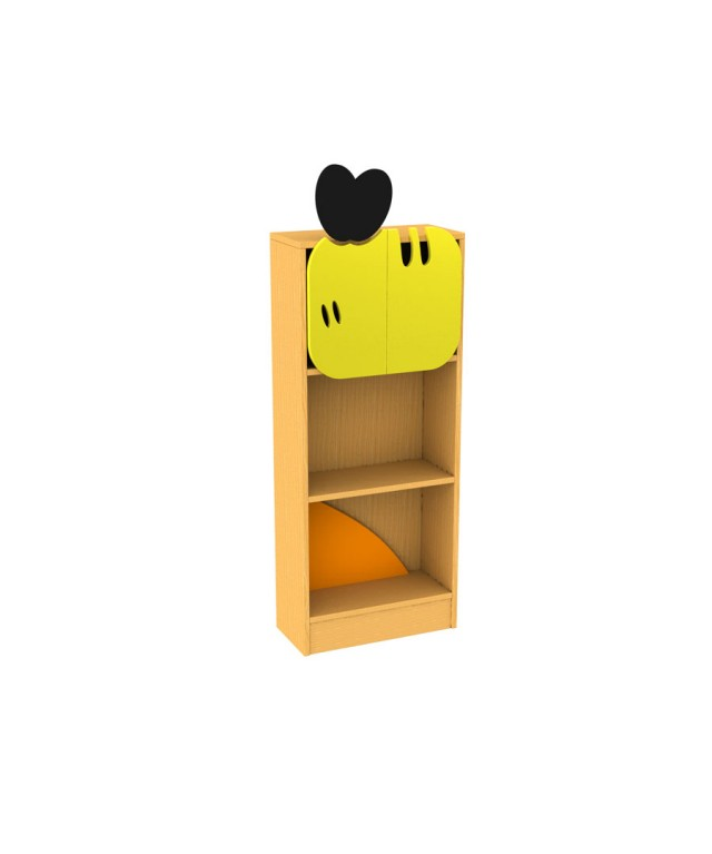 Honey Bee Bookcase with feature doors W1047 x D494 x H900mm