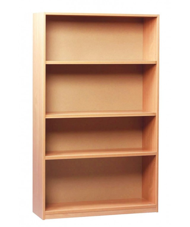 Open Bookcase with 1 Fixed & 2 Adjustable Shelves