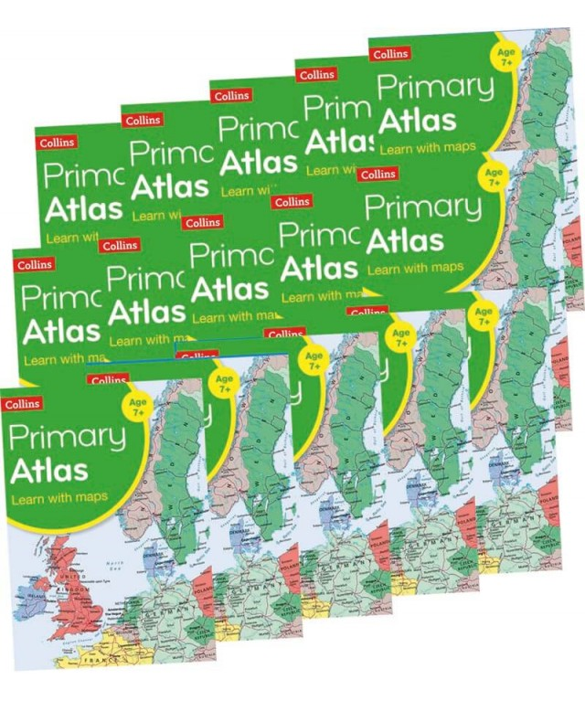 Collins Primary World Atlas 15pk