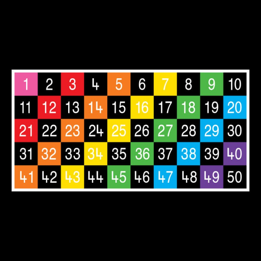 Number Grid 1-50 Large Half Solid   Creative Activity