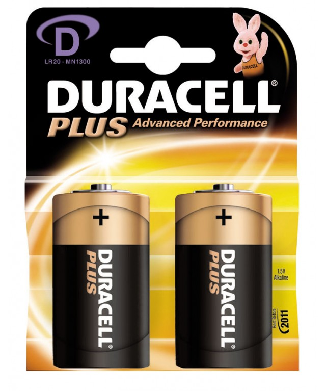 9V Duracell Plus Batteries