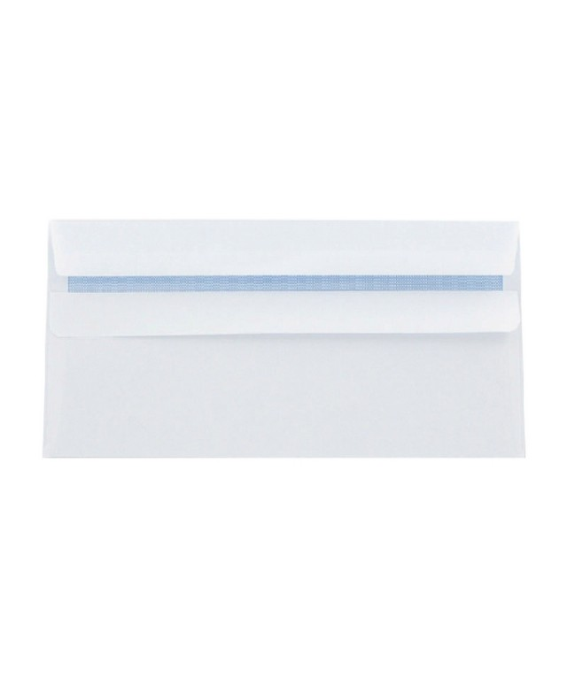 DL Plain Wallet S/S Env White 80gsm