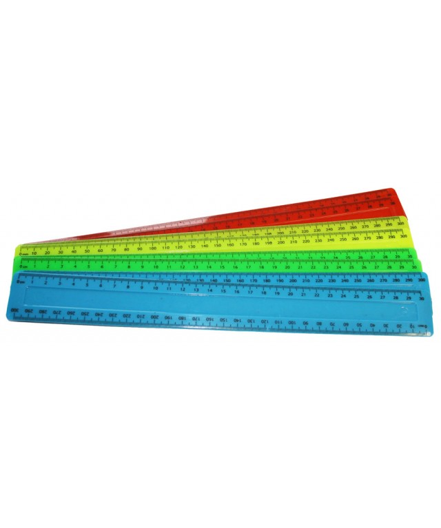 "Rulers 12""/30cm Assorted Colours"