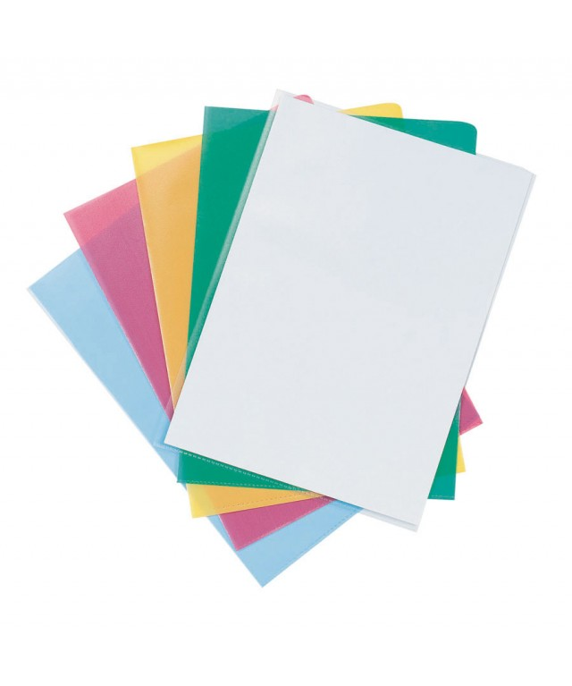 Economy Clear Cut Flush Folders