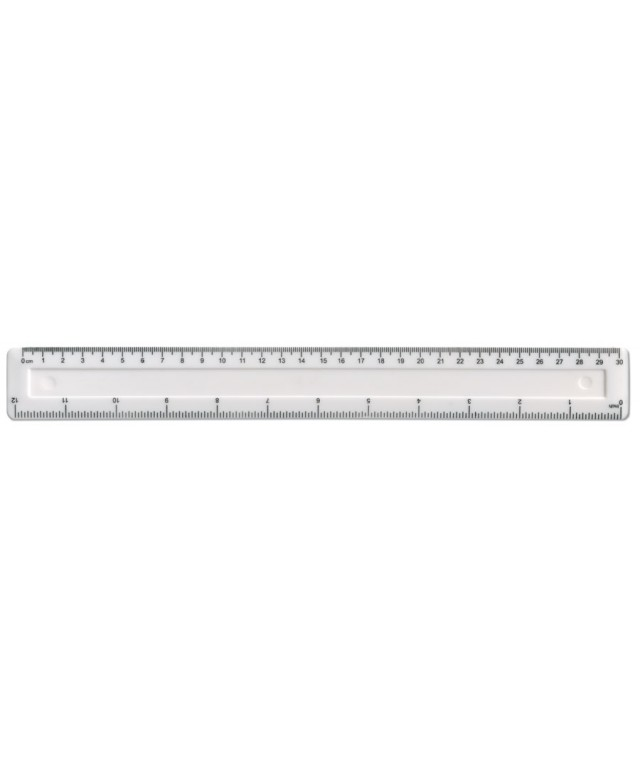 "School Essentials 12""/30cm Clear Shatterproof Ruler"