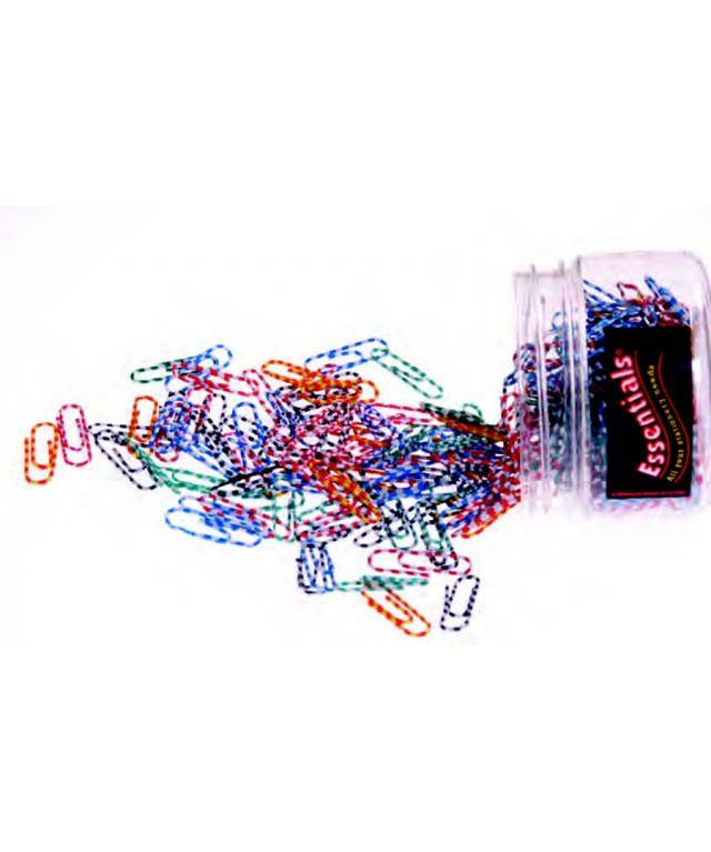 Necessities Tubs Paper Clips 33mm Striped