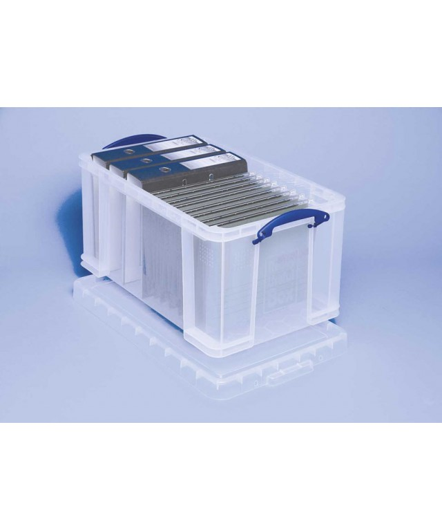 Really Useful 48 Litre Box With Lid Clear